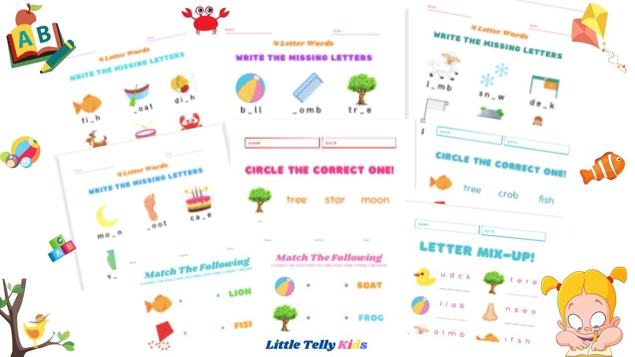 4 letter words worksheet