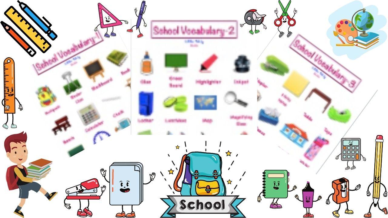 School Vocabulary Charts