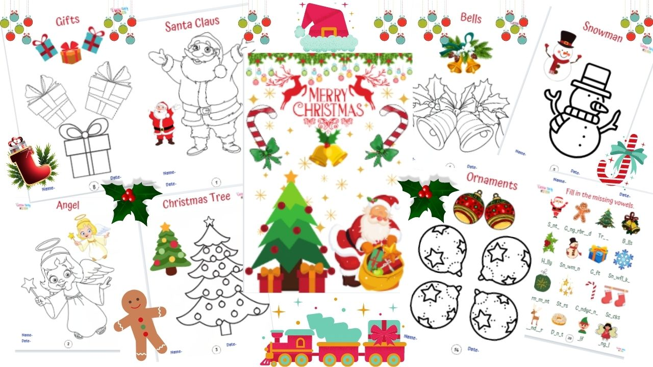 Christmas Drawing Book for kids