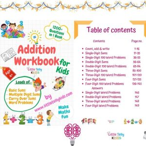 Addition Workbook for kids