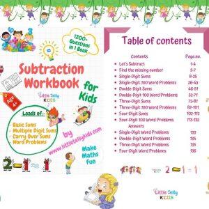 Subtraction Workbook for kids